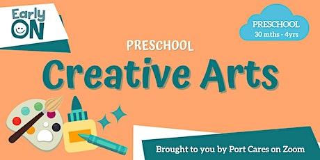 Preschool Creative Arts - DIY Drum tickets