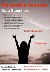 Maranatha-avond met Dato Steenhuis tickets