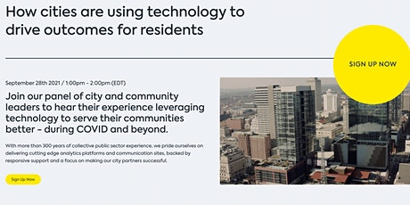 How cities are using technology to drive outcomes for residents tickets