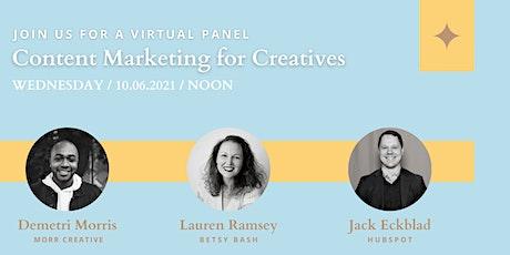 Content Marketing for Creatives biglietti