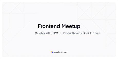 Frontend Meetup PRG #2 tickets
