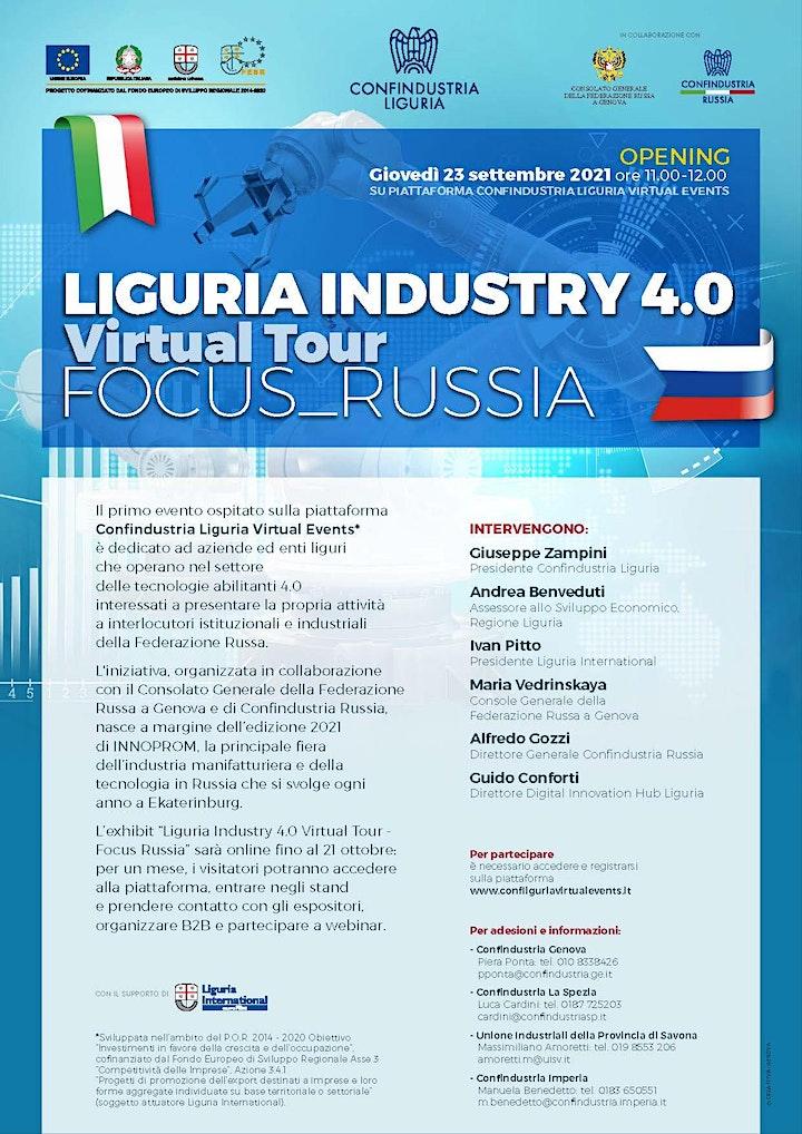 Immagine Liguria Industry 4.0 Virtual Tour - Opening