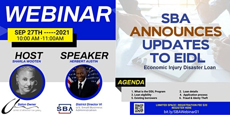 Small Business Administration EIDL Program Webinar tickets