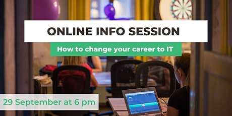 Online Info Session - How to change your career to IT? tickets