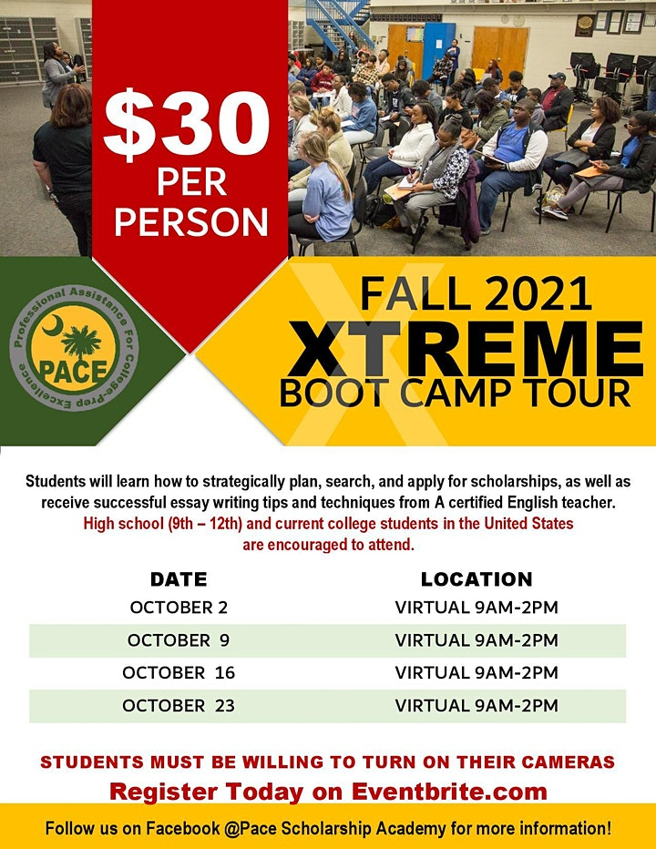 Pace Scholarship Academy's EXTREME Scholarship Bootcamp (VIRTUAL) image