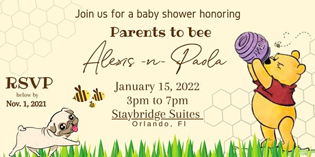 Alexis & Paola Baby shower tickets