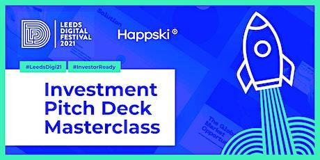 Investment Pitch-Deck Masterclass tickets