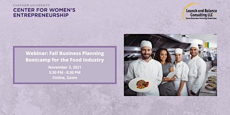 Fall Business Planning Bootcamp for the Food Industry tickets