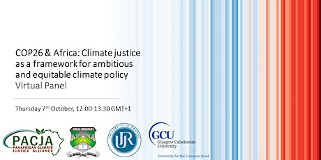 Panel/COP26 & Africa: Climate justice as a framework for climate policy tickets