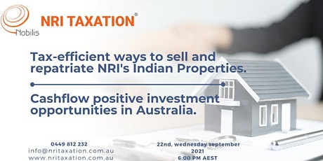 Tax planning & Investment opportunities-Sell & Repatriate Indian properties tickets