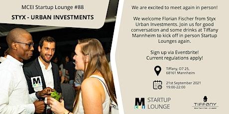 Startup Lounge #88 - Styx Tickets