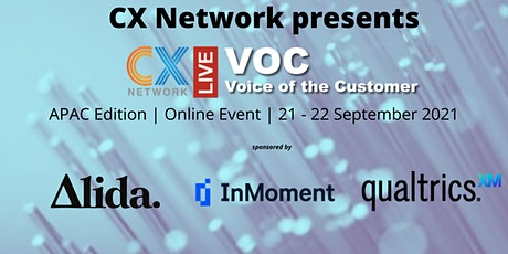 Voice of Customer APAC 2021 tickets