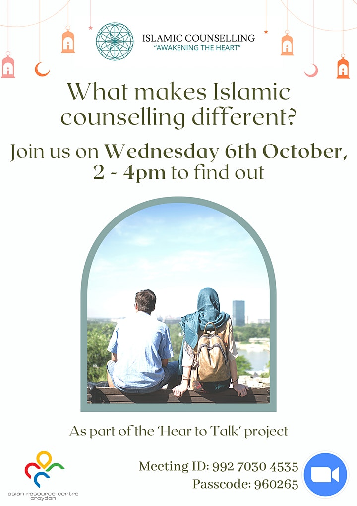 What makes Islamic counselling different? Join us on 6th Oct to find out. image