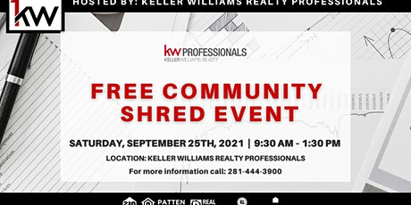 Keller Williams Professionals Community Shred Day tickets