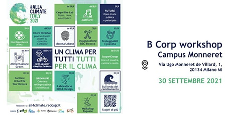 B Corp workshop @Campus Milano Monneret - 30.09  | InVento Lab biglietti