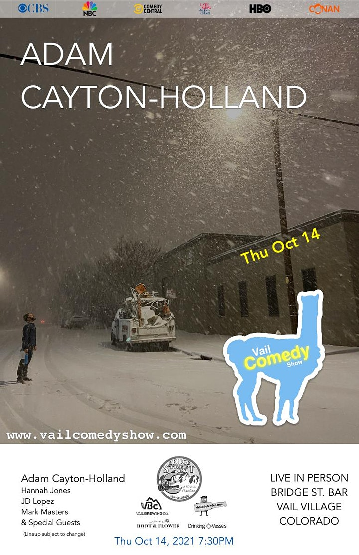 SOLD OUT Vail Comedy Show - October 14, 2021 - Adam Cayton-Holland image