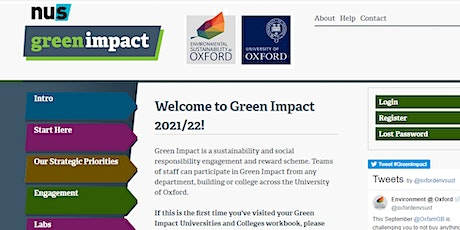 Green Impact - welcome session 2021 tickets