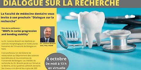 Dialogue sur la recherche - Octobre 2021 ingressos