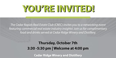 Commercial Real Estate Club (CREC) Networking Event tickets