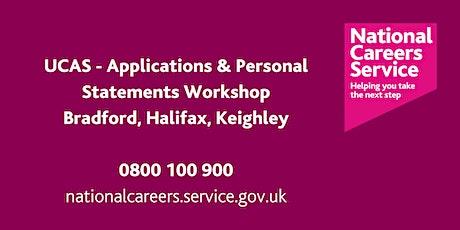 UCAS - Applications & Personal Statements workshop - Bradford & Halifax tickets