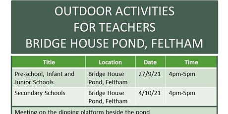 Delivering An Outdoor Curriculum  Secondary Teacher Training Event tickets