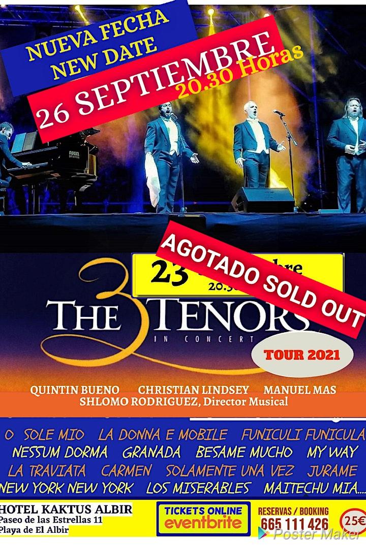 LOS 3 TENORES EN CONCIERTO EL ALBIR. 26 SEPTIEMBRE image