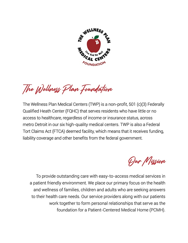 Wellness Plan Medical Center's Foundation 2nd Annual Dinner and Comedy Show image