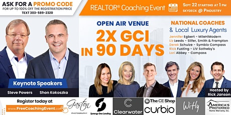 2X GCI in 90 days! Coaching event for REALTORS® w/ Luxury Agent Panel tickets