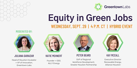 Equity in Green Jobs tickets