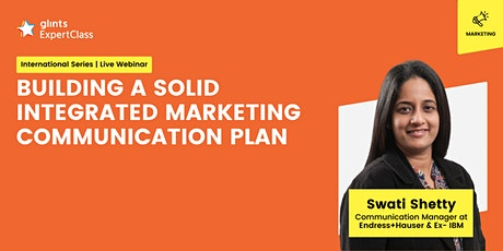 [GEC Int.] Building a Solid Integrated Marketing Communication Plan tickets