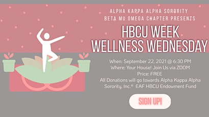 FREE YOGA CLASS with ALL Donations Going Towards Supporting HBCUs For Life tickets