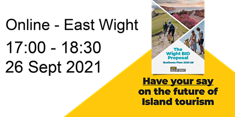 Visit Isle of Wight BID Consultation online -  East Wight 26 September 2021 tickets