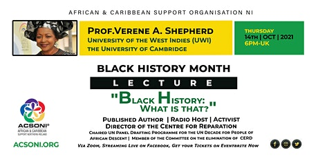 """Black History Month Lecture - """"Black History: What is that?"""" tickets"""