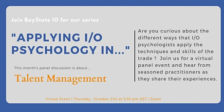 Applying I/O Psychology in Talent Management tickets
