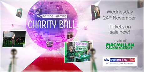 Annual Charity Ball in aid of Macmillan tickets