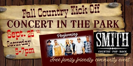 Fall Country Kick off Concert in the Park tickets