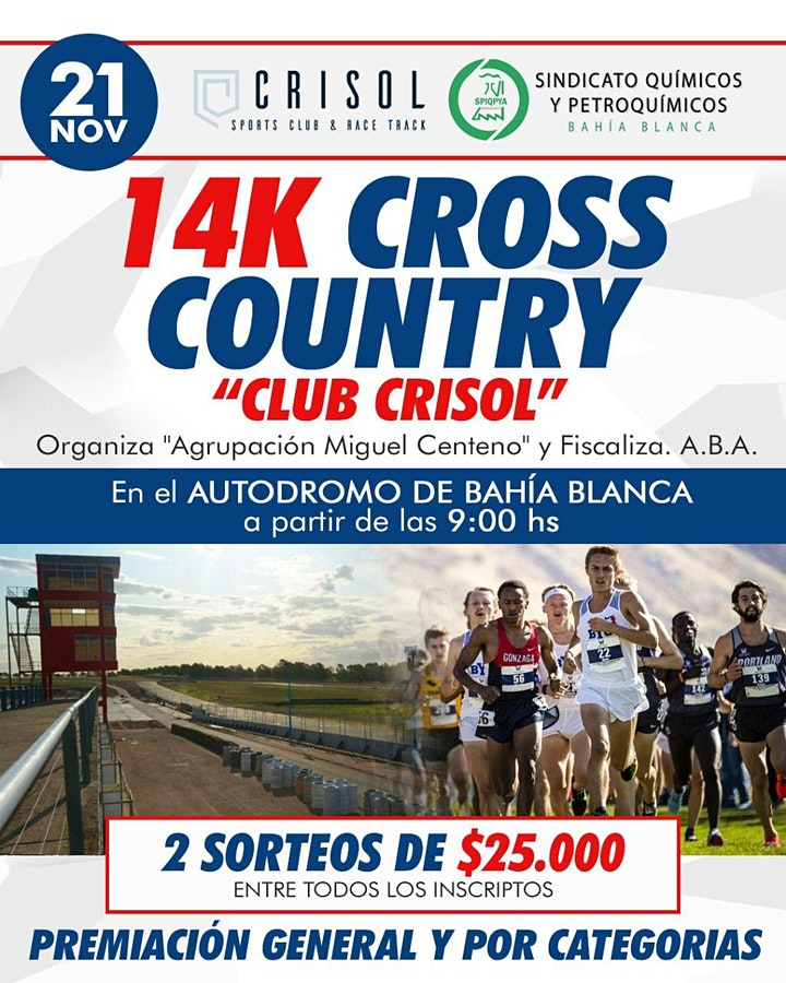 "Imagen de 14K CROSS COUNTRY ""Club CRISOL"" Autodromo de Bahia"