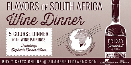 Flavors of South Africa Wine Dinner tickets