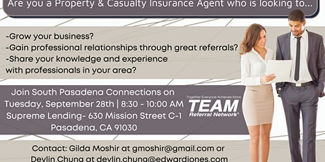 Calling all Property and Casualty Insurance Agents.. tickets