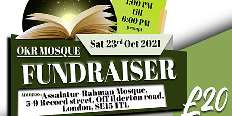 Old Kent Road Mosque Fundraiser tickets