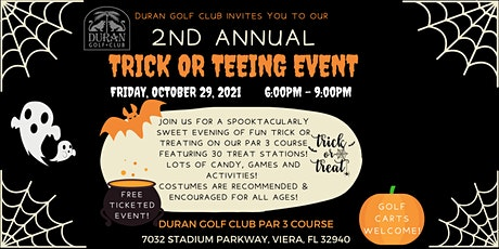 Duran Golf Club 2nd Annual Trick or Tee Halloween Event 2021 tickets
