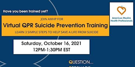 Virtual QPR Suicide Prevention Training tickets