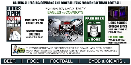 Monday Night Football Fundraiser Watch Party - Eagles vs Cowboys tickets