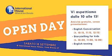 Open Day @ International House Milano biglietti