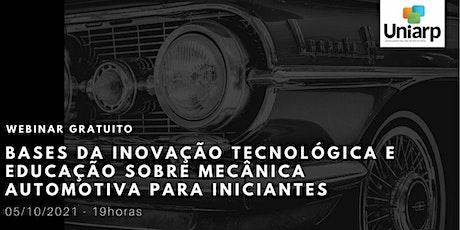 WEBINAR GRATUITO -  INOVAÇÃO TECNOLÓGICA AUTOMOTIVA bilhetes