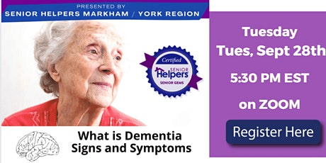 Dementia Matters I 6 Part Live  Series Part 1) Dementia Signs and Symptoms tickets