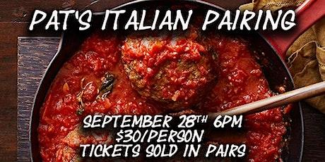 Pat's Italian Pairing tickets