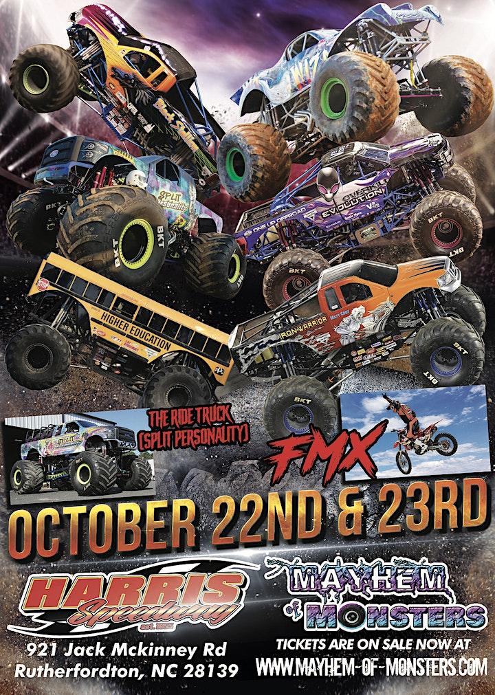Mayhem of Monsters Invade Harris Speedway image