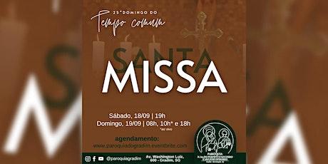 25º Domingo do Tempo Comum/ Santa Missa, Sábado, 19h ingressos