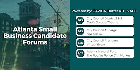 At-Large Seats - Atlanta Small Business Candidate Forum tickets